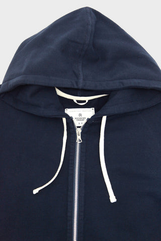 Mid Weight Terry Full Zip Hoodie - Navy