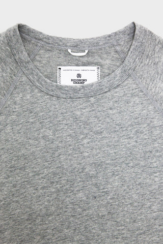 Ringspun Jersey Raglan T-Shirt - Heather Grey