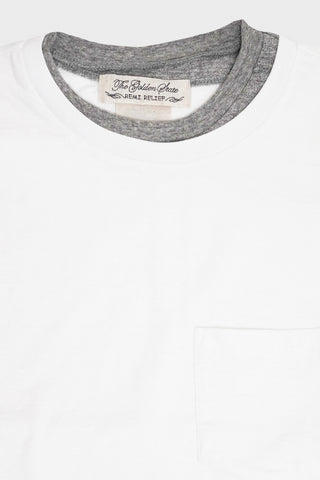 remi relief Jersey Double Neck Grunge Tee - Grey