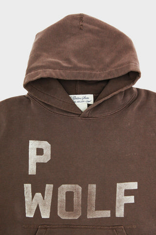 Remi Relief Special Finish Fleece Print P Wolf Hoodie - Brown