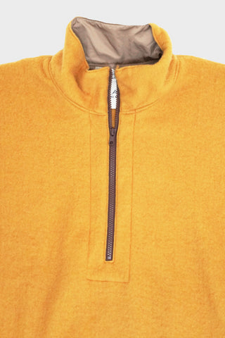 remi relief clothing japan Wool Fleece Half-Zip Pullover - Yellow