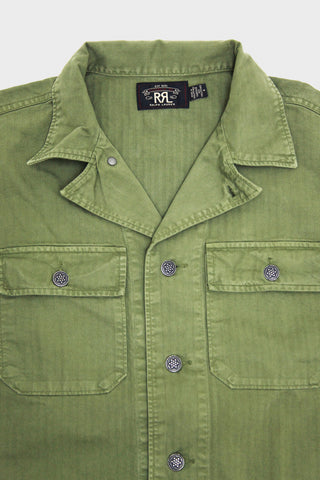 RRL Curtis Military Jacket - Olive Drab