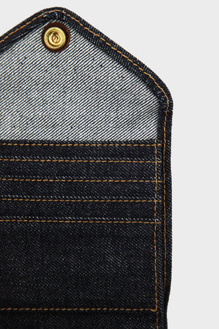 rrl ralph lauren Indigo Denim Billfold Wallet