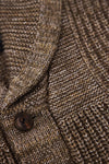 RRL ralph lauren Linen-Cotton Shawl Cardigan - Brown