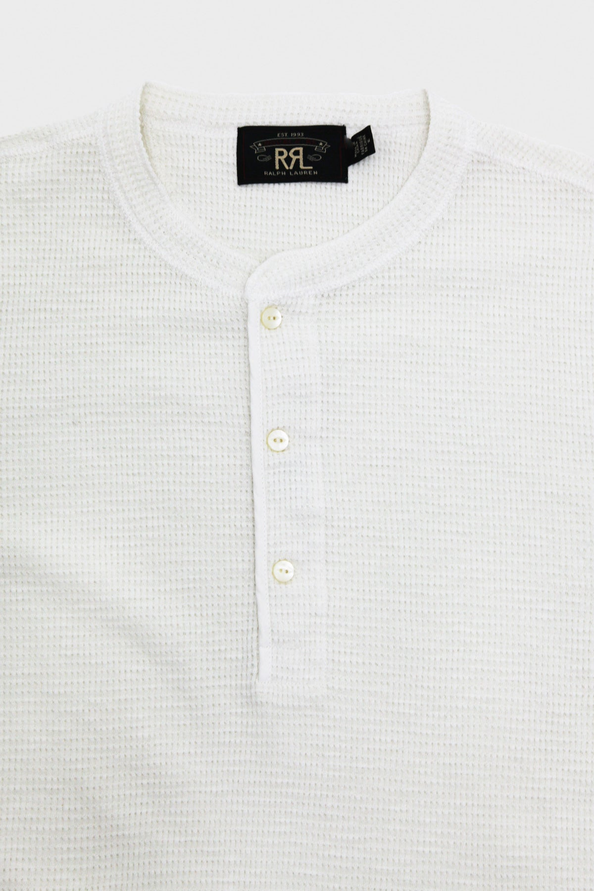 RRL - Waffle-Knit Henley Shirt - Paper White - Canoe Club