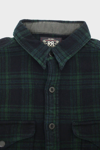 rrl Plaid Twill Workshirt - Green Multi