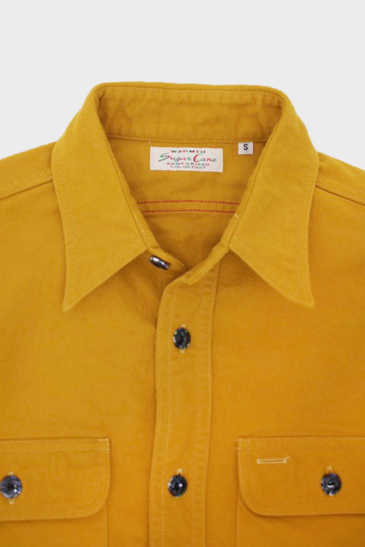 Sugar Cane - Heavy Twill Shirt - Mustard - Canoe Club