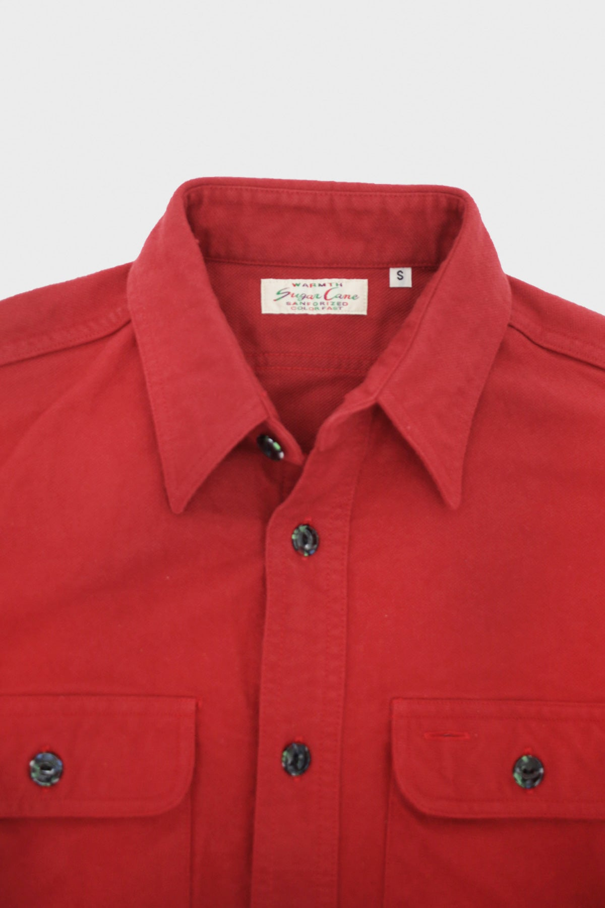 Sugar Cane - Heavy Twill Shirt - Red - Canoe Club