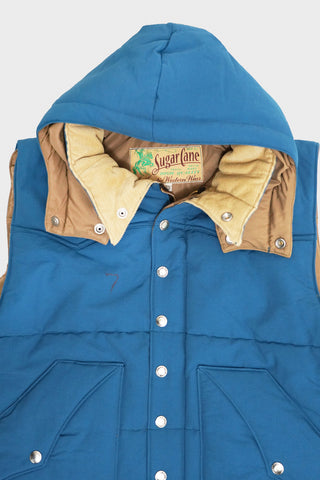sugar cane clothing japan Padding Vest - Blue/Blue