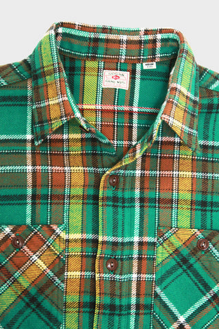 Twill Check Work Shirt - Green 145