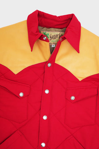 sugar cane clothing japan Western Padding Jacket - Red/Camel