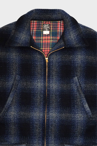 sugar cane clothing japan Wool Check Sport Jacket - Navy
