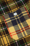 Twill Check Work Shirt Crazy Pattern - Yellow
