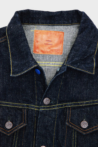 tanuki denim japan EJKT3 - Earth Series 18oz Selvedge Denim - Type III Denim Jacket