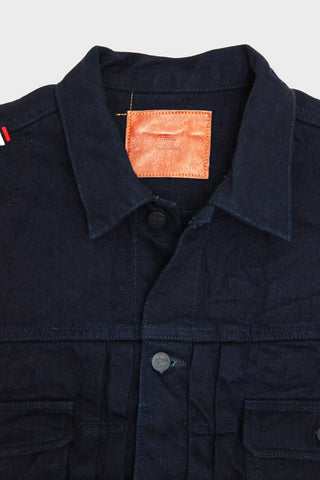 tanuki denim japan IDJKT2 - Double Indigo 15oz Selvedge Denim - Type II Denim Jacket