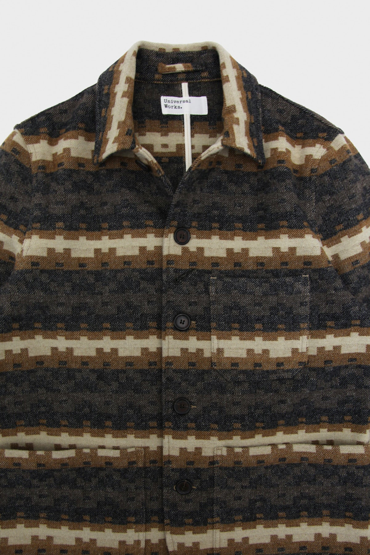 universal works Bakers Jacket - Multi Stripe