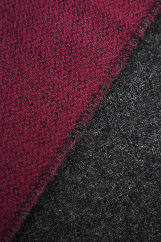 universal works Scarf - Claret/Charcoal