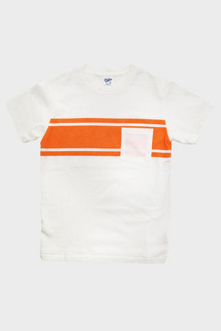 Narrow Wave Stripe Tee - College Stripe