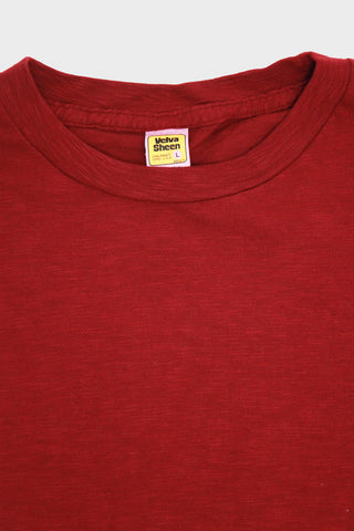 Short Sleeve Rolled Tee - Burgundy