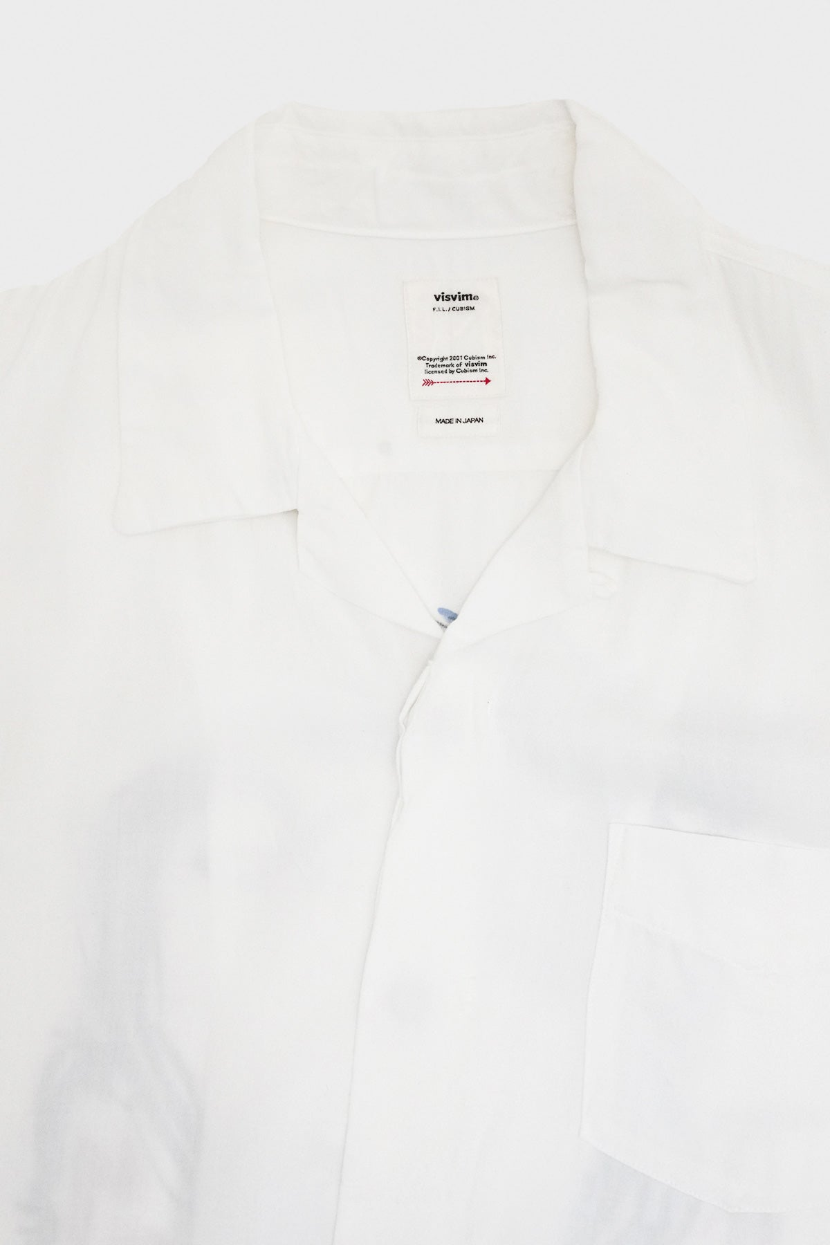 Visvim - Free Edge Shirt SS Rayon - White - Canoe Club