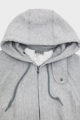 Workaday by Engineered garments Raglan Zip Hoody - Heather Grey