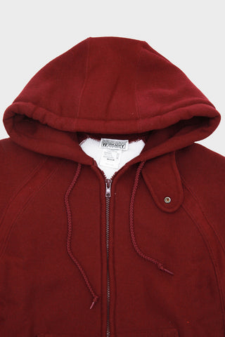 Workaday by Engineered garments Raglan Zip Hoody - Maroon