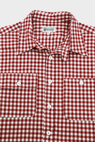 Workaday by Engineered garments Utility Shirt - Red Gingham Check