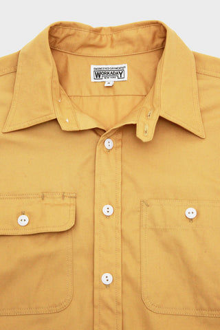 Workaday by Engineered garments Utility Shirt - Yellow French Twill