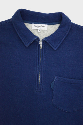 Mr. Sugden Zip Top - Navy