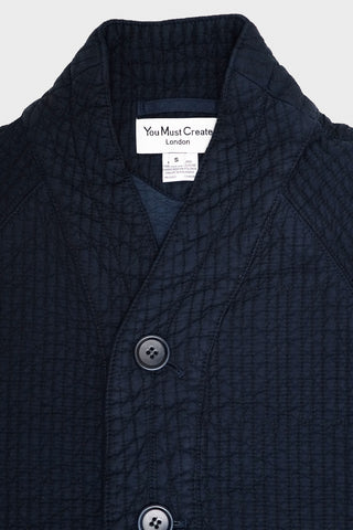 you must create (ymc) Quilted Cotton Erkin Jacket - Navy
