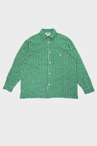 you must create ymc Screech Shirt - Green/Ecru
