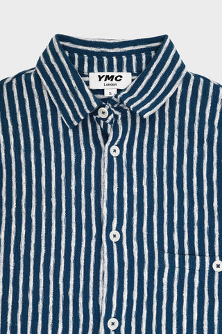 you must create ymc Screech Shirt - Blue/Ecru