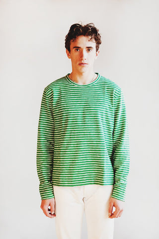 you must create (ymc) X Sweat shirt - Green/Ecru
