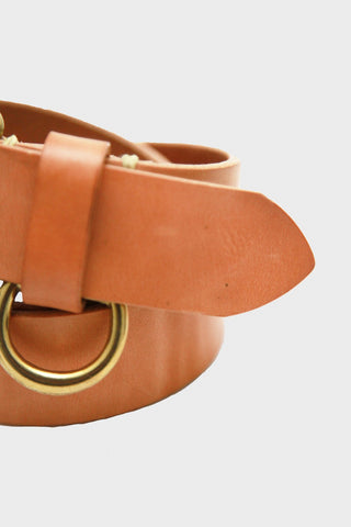 Stitched D-Ring Belt - Russet