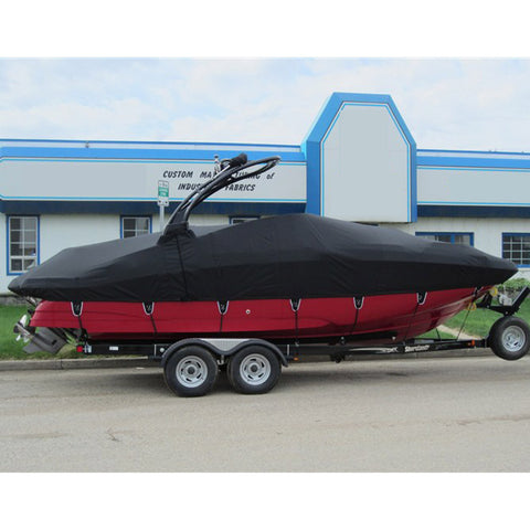 Boat Cover Inboard w/Tower & DLX-TIE