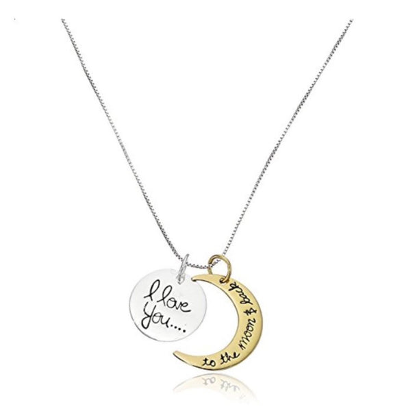 "Pendant Necklace ""I Love You to the Moon and Back"""