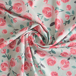 Lisa Comfort Cotton Lawn All the Roses - Mint Fabric - Cotton Reel Studio