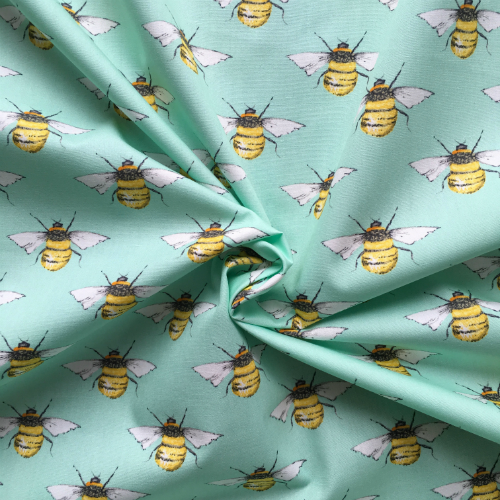 Cotton Poplin Bees Meadow Fabric - Cotton Reel Studio