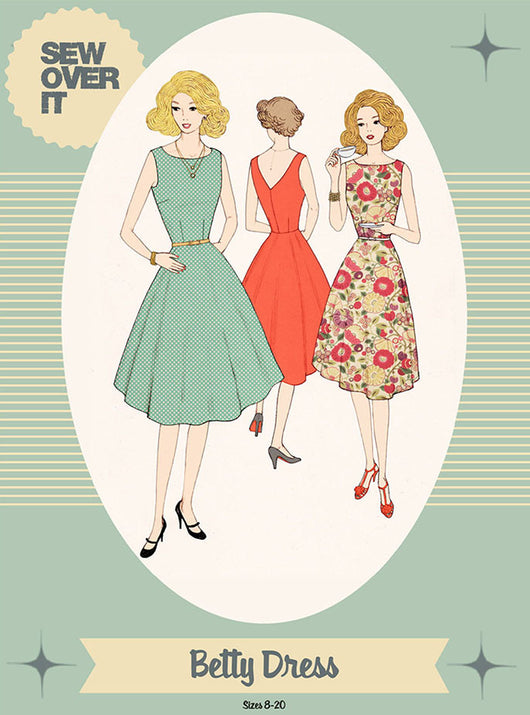 Sew Over It Betty Dress Sewing Patterns - Cotton Reel Studio