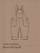 Two Stitches Patterns - Frankie dungarees or dress (age 6m-2t) Sewing Patterns - Cotton Reel Studio