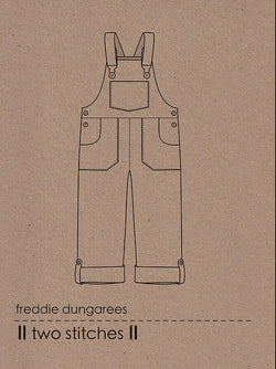Two Stitches Patterns - Freddie dungarees or dress (age 3y-9y) Sewing Patterns - Cotton Reel Studio