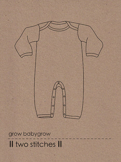 Two Stitches Patterns - Grow Babygrow (age Birth-24m) Sewing Patterns - Cotton Reel Studio