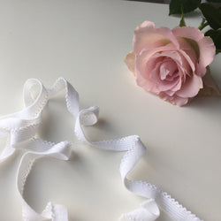 Lingerie Elastic 10mm White