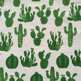 Kokka Barkcloth Cactus Green Fabric - Cotton Reel Studio