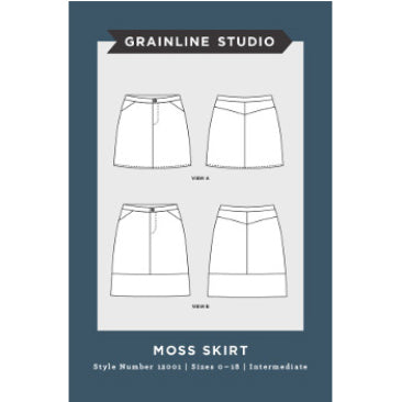 Grainline Studio Moss Skirt Sewing Patterns - Cotton Reel Studio