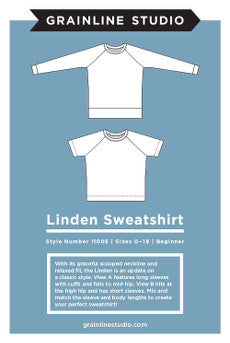 Grainline Studio Linden Sweatshirt Sewing Patterns - Cotton Reel Studio