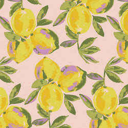 Art Gallery Fabrics Sage Yuma Lemons Glare Cotton
