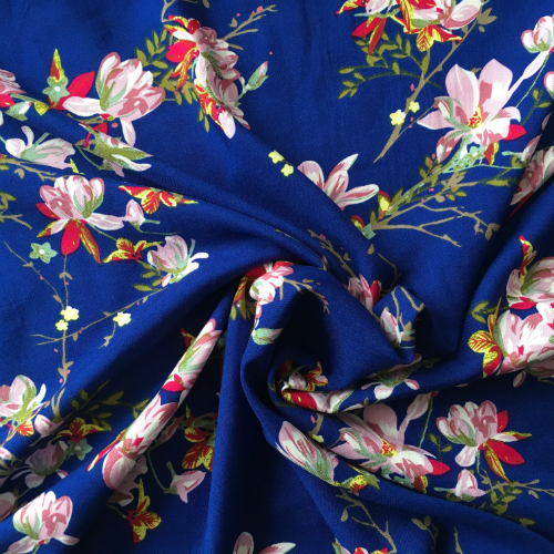 Viscose Magnolia Dream Royal Blue
