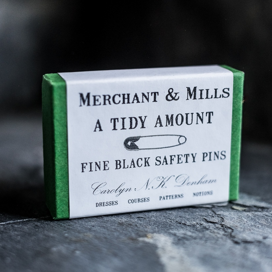 Merchant & Mills Fine Black Safety Pins Haberdashery - Cotton Reel Studio