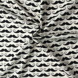 Cotton Poplin Hipster Moustache Fabric - Cotton Reel Studio